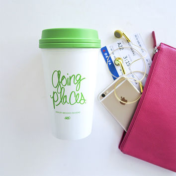 Ashley Brooke Designs- Going Places Travel Mug