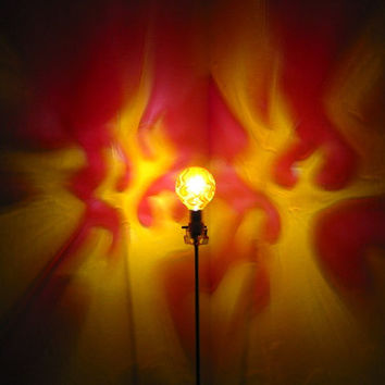 The  ORIGINAL Hand-Painted Flames Mood-Light Bulb 4 Color Therapy, Parties, Night Lights, Mood Lighting