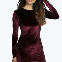 Dalia Dogtooth Velvet Mini Dress