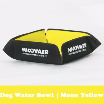 Portable Dog Outdoor Water Bowl (Yellow)