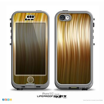The Brown Vector Swirly HD Strands Skin for the iPhone 5c nüüd LifeProof Case