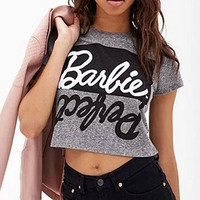 Ladies Sexy Letter Print Top Tee Short Sleeve Gray Crop Tops Cropped for Women Punk Hip Hop T-ShirtsS77