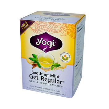 Yogi Tea Get Regular - Soothing Mint - Caffeine Free - 16 Tea Bags