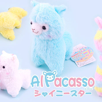 Buy Alpacasso Alpaca Rainbow Plush Keychain at Tofu Cute