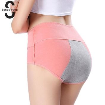 Women Lady Menstrual Period Leakproof Physiological Pant Briefs Seamless Panties Lingerie Plus Size High Waist Panties