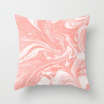 marbling 10 Throw Pillow by LEEMO