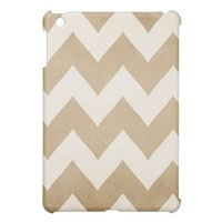 Biscotti & Vanilla Chevron Ipad Mini Case from Zazzle.com