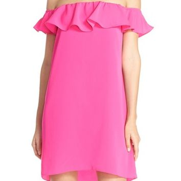 A by Amanda 'Joanna' Ruffle Off-the-Shoulder Shift Dress | Nordstrom