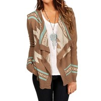 Mocha/Ivory/Mint Tribal Sweater