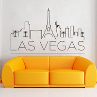 Art Design Home Decoration Las Vegas Wall Sticker Removable House Decor Creative Beautiful Decals