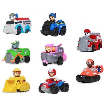 Paw patrol Puppy Patrol Dog  patrulla canina Toys Anime Figurine Car Plastic Toy Action Figure model Children Gifts toys