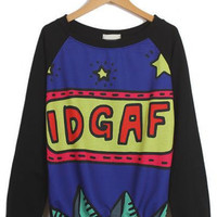 IDGAF COMIC FASHION SWEATSHIRT