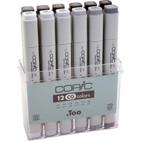 Copic Marker - COPIC 12pc Cool Gray Set