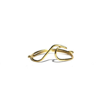 Gold Wave Wire Ring