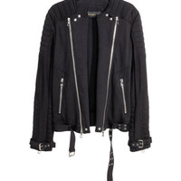 Cotton Biker Jacket - from H&M