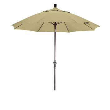 9 Foot Sunbrella 3A Fabric Fiberglass Rib Crank Lift Collar Tilt Aluminum Patio Umbrella with Bronze Pole