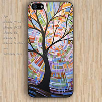 iPhone 5s 6 case cartoon abstract sun tree watercolor dream catcher colorful phone case iphone case,ipod case,samsung galaxy case available plastic rubber case waterproof B615