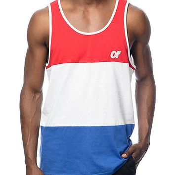 Odd Future OFWGKTA COLOR BLOCK RED, WHITE, BLUE Tank Top  NWT 100% Authentic