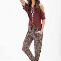 FOREVER 21 Abstract Woven Joggers