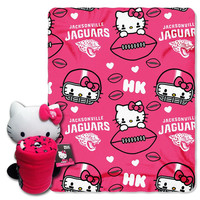 Jacksonville Jaguars NFL Hello Kitty with Throw Combo