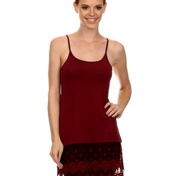 Cami w/Lace Extender, Wine