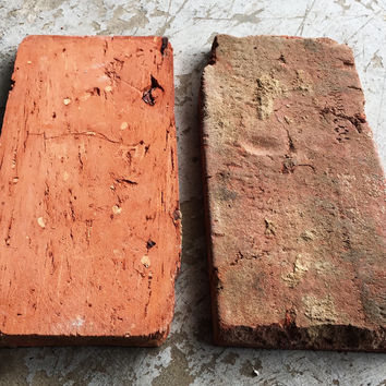 "Antique Brick Tile 3/4"" Outside Edge Top & Bottom Slices"