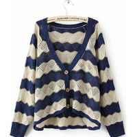 Bat Stripes Loose Sweater $42.00