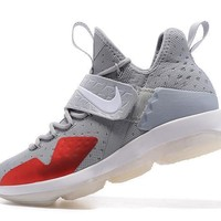 Nike LeBron 14 XIV Gray Basketball Shoe