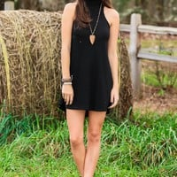 Down The Road Dress-Black