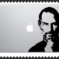Steve Jobs Photo mac decal mac book mac book pro mac book air Ipad