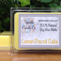 Soy Wax Melts - LEMON POUND CAKE Scented Tarts - 1 package - Lemon Scented
