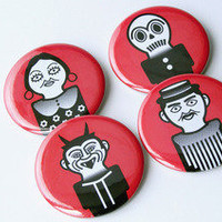 Los Mantudos ? Pin Buttons Set