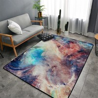 Autumn Fall welcome door mat doormat Fashion Scandinavian Abstract Colorful Galaxy Space Stars  Bathroom Parlor Living Room Home Decorative Carpet Area Rug AT_76_7