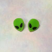 Kawaii Alien Stud Earrings