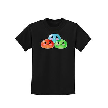 Cute RPG Slime - Trio Childrens Dark T-Shirt by TooLoud