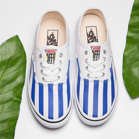Trendsetter Vans Stripe Canvas Old Skool Flat Sneakers Sport Shoes