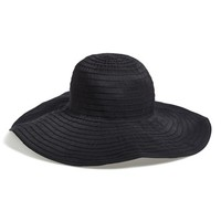 Women's August Hat 'Ribbons' Sun Hat - Black