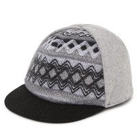 With Love From CA Front Panel Knitted Baseball Hat - Womens Hat - Gray - One