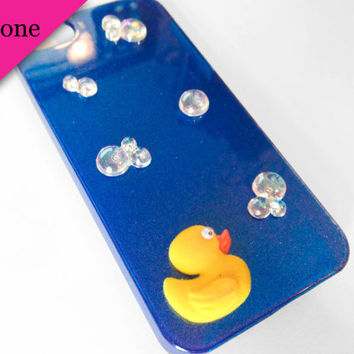 iPhone Case 5 - Fuzzy Duck & Bubbles iPhone 5 Case