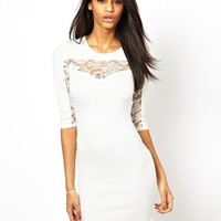 Dress With Lace Panels