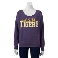 LSU Tigers Burnout Fleece Sweatshirt - Women's, Size:
