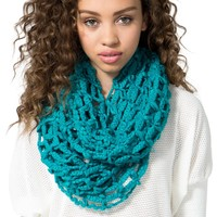 Super Softie Net Infinity Scarf