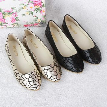 New Summer style Women Slip-On Flats Shoe Leather Fabric Casual Lady Loafers Ballerina Female Fashion Moccasins Size 41