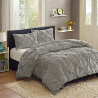 Walmart: Better Homes and Gardens Pintuck 3-Piece Bedding Comforter Mini Set