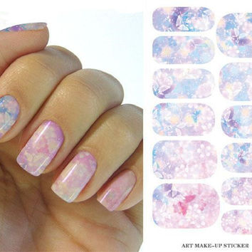Water Transfer Flower Design Nail Stickers