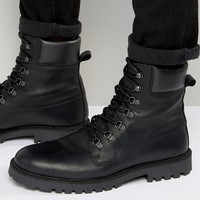 Zign Leather Lace Up Boots at asos.com
