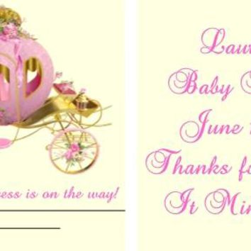 20 Princess Baby Shower Mint Favors Carriage