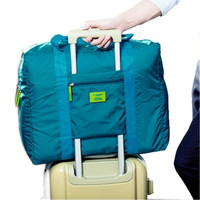 Hot SaleFoldable brand designer luggage travels bags organizer waterproof women and men duffle carry on luggage traveling bag
