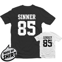 SINNER 85 T SHIRT 1316 - J Cole World DreamVille Born Sinner Jersey Fresh Trill