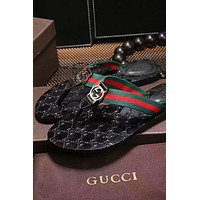GUCCI Fashion Women Men Leisure Slippers Flip-Flops I